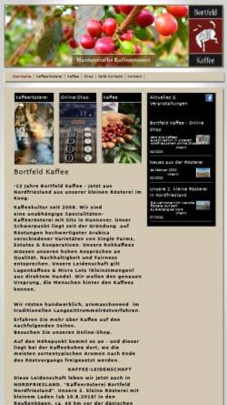 Vorschau der mobilen Webseite www.bortfeld-kaffee.de, Bortfeld Kaffee