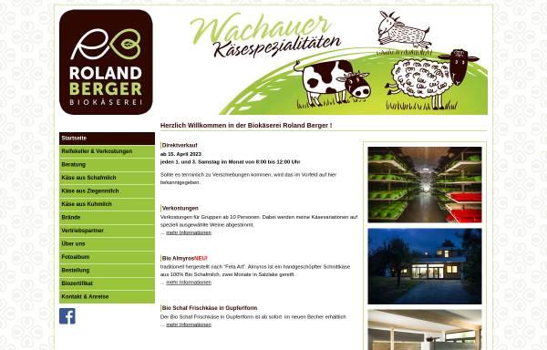 Vorschau von www.biokaeserei-berger.at, Biokäserei Roland Berger
