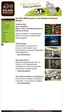 Vorschau der mobilen Webseite www.biokaeserei-berger.at, Biokäserei Roland Berger
