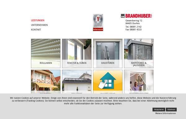 Vorschau von www.fenster-rollladen-brandhuber.de, Fenster- und Rollladenbau Brandhuber GmbH
