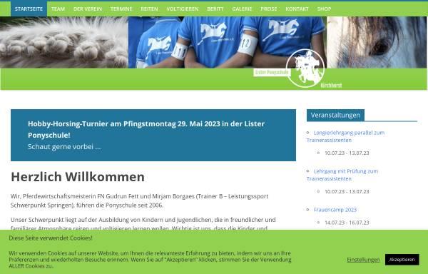 Vorschau von www.lister-ponyschule.de, Lister Ponyschule Schillerslage