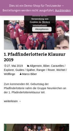Vorschau der mobilen Webseite www.pfadfinder-neunkirchen.at, Pfadfindergruppe Neunkirchen