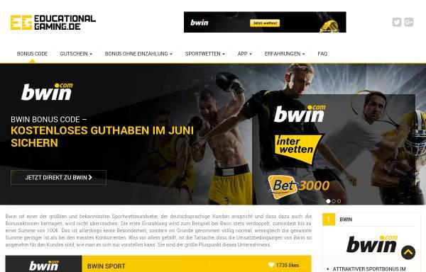 Vorschau von www.educational-gaming.de, Educational Gaming