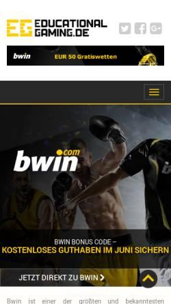 Vorschau der mobilen Webseite www.educational-gaming.de, Educational Gaming
