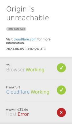 Vorschau der mobilen Webseite www.md21.de, Media design 21