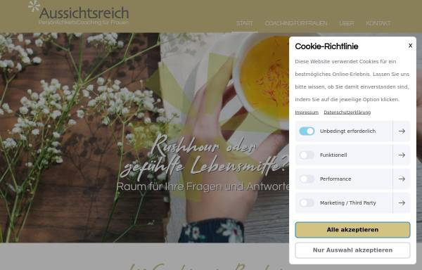 Vorschau von www.aussichtsreich-bensheim.de, Aussichtsreich Persönlichkeitsberatung Bunge-Glenz