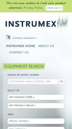 Vorschau der mobilen Webseite www.instrumex.de, Instrumex GmbH