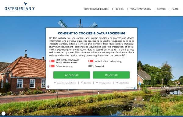Vorschau von www.ostfriesland.de, Ostfriesland.de - Ostfriesland Tourismus GmbH