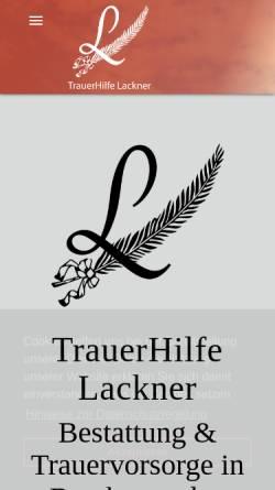 Vorschau der mobilen Webseite www.bestattung-berchtesgaden.de, TrauerHilfe Lackner - Fegg GmbH