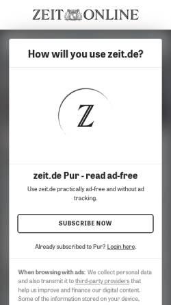 Vorschau der mobilen Webseite www.zeit.de, Zeit.de: Ernsthaft spielen