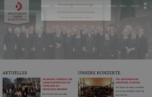 Vorschau von www.oratorienchor-burgwedel.de, Oratorienchor Burgwedel e.V.
