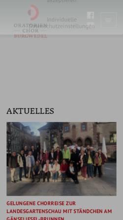Vorschau der mobilen Webseite www.oratorienchor-burgwedel.de, Oratorienchor Burgwedel e.V.