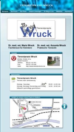 Vorschau der mobilen Webseite www.kleintierdoctor.de, Tierarztpraxis Wruck