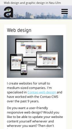 Vorschau der mobilen Webseite www.almut-m.de, Almut M., Agentur für Grafik Design und Webdesign - Almut Müller
