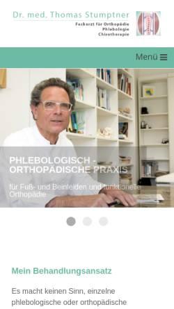 Vorschau der mobilen Webseite www.dr-stumptner.de, Stumptner, Dr. med. Thomas
