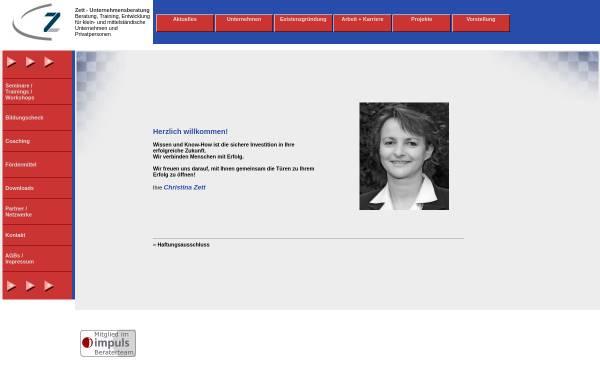 Vorschau von www.zett-personal.de, Christina Zett - Dipl.-Betriebswirtin