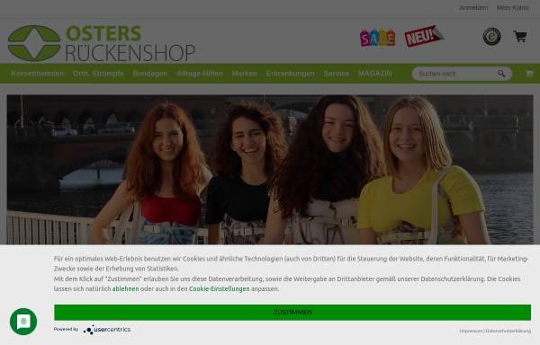 Vorschau von www.osters-rueckenshop.de, Osters-Rückenshop Inh. U. Oster