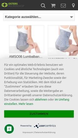 Vorschau der mobilen Webseite www.osters-rueckenshop.de, Osters-Rückenshop Inh. U. Oster