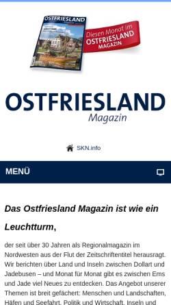 Vorschau der mobilen Webseite www.ostfriesland-magazin.de, Ostfriesland-Magazin