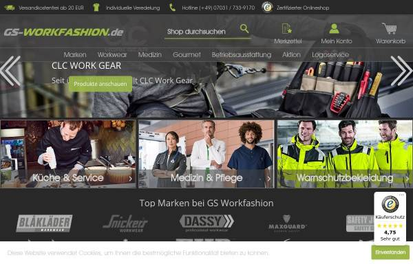 Vorschau von gs-workfashion.de, GS Workfashion