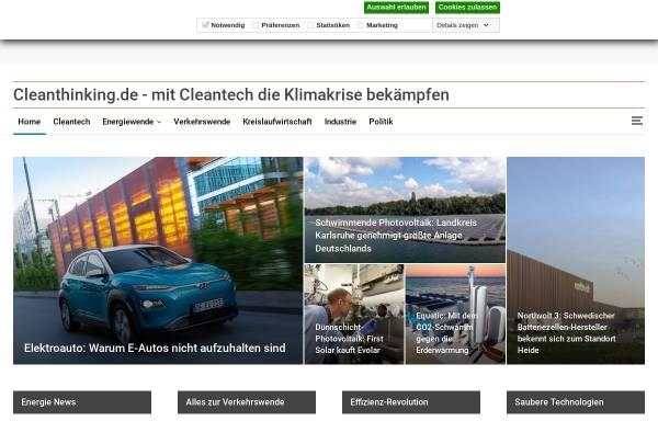 Vorschau von www.cleanthinking.de, CleanThinking