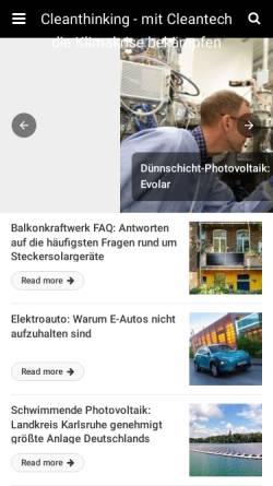 Vorschau der mobilen Webseite www.cleanthinking.de, CleanThinking