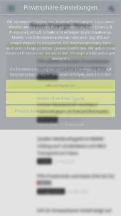 Vorschau der mobilen Webseite www.euwid-energie.de, EUWID Neue Energien