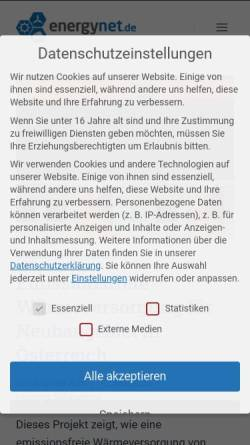Vorschau der mobilen Webseite www.energynet.de, Energynet.de