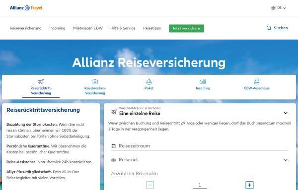 Vorschau von www.allianz-assistance.de, Allianz Global Assistance - AGA International S.A. Deutschland