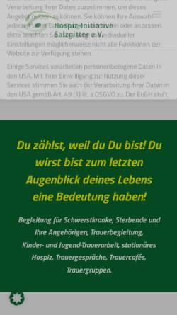 Vorschau der mobilen Webseite www.hospiz-initiative-salzgitter.de, Hospiz-Initiative Salzgitter e.V.