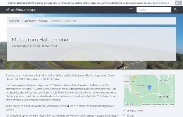 Vorschau von www.mc-norden.de, MC Norden Motodrom Halbemond