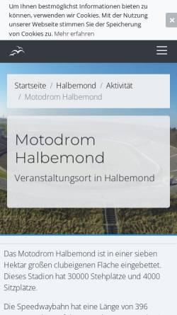 Vorschau der mobilen Webseite www.mc-norden.de, MC Norden Motodrom Halbemond