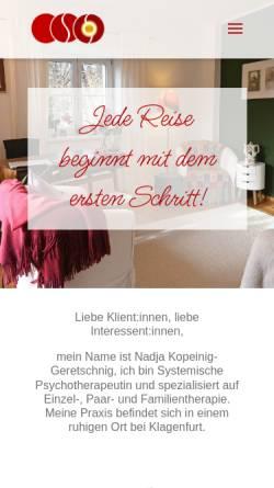 Vorschau der mobilen Webseite kopeinig-geretschnig.at, Nadja Kopeinig-Geretschnig