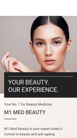 Vorschau der mobilen Webseite www.m1-beauty.de, M1 Med Beauty Berlin GmbH
