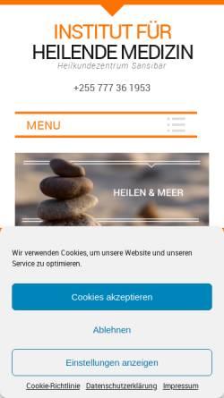 Vorschau der mobilen Webseite www.heilende-medizin.de, Institut für Heilende Medizin