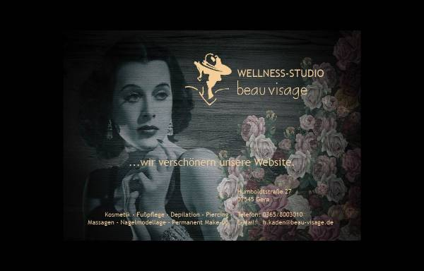 Vorschau von www.beau-visage.de, Wellness-Studio beau visage Inh.: Heike Kaden