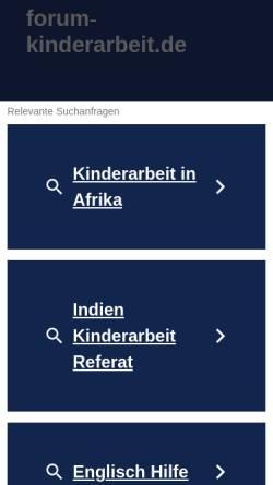 Vorschau der mobilen Webseite www.forum-kinderarbeit.de, Deutsches NRO-Forum Kinderarbeit
