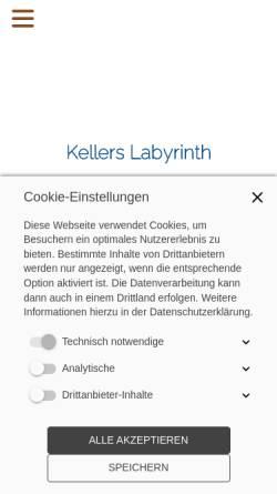 Vorschau der mobilen Webseite www.kellers-labyrinth.de, Kellers Labyrinth