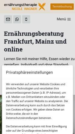 Vorschau der mobilen Webseite www.ernaehrungstherapie-wagner.de, Ernährungstherapie Wagner