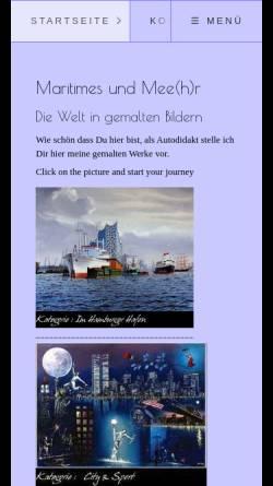Vorschau der mobilen Webseite joernwernerarte.de, Werner, Joern