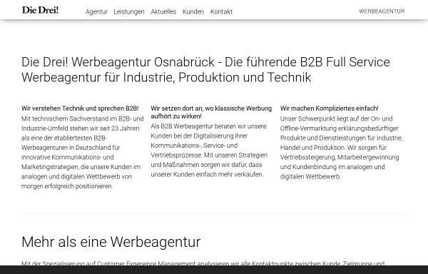 Vorschau von www.diedrei.com, Die Drei! Werbeagentur GmbH & Co. KG