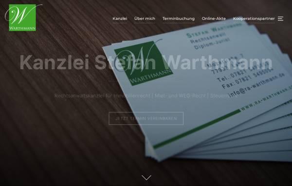 Vorschau von www.ra-warthmann.de, Rechtsanwalt Stefan Warthmann