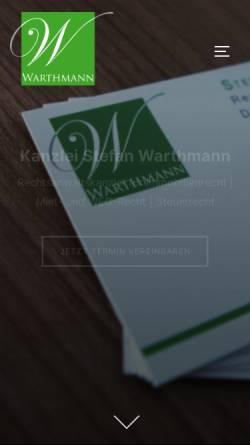 Vorschau der mobilen Webseite www.ra-warthmann.de, Rechtsanwalt Stefan Warthmann