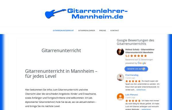 Vorschau von www.gitarrenlehrer-mannheim.de, Gitarrenlehrer Helmut Scholz