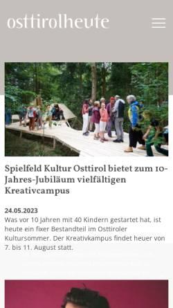 Vorschau der mobilen Webseite www.osttirol-heute.at, Osttirol Heute