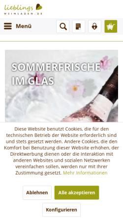 Vorschau der mobilen Webseite www.proseccoundwein.com, Wein im FachWerk