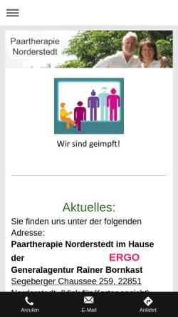 Vorschau der mobilen Webseite www.paartherapie-norderstedt.de, Paartherapie Norderstedt