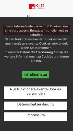 Vorschau der mobilen Webseite www.kld-shop.de, KLD Systeme GmbH - KLD Shop