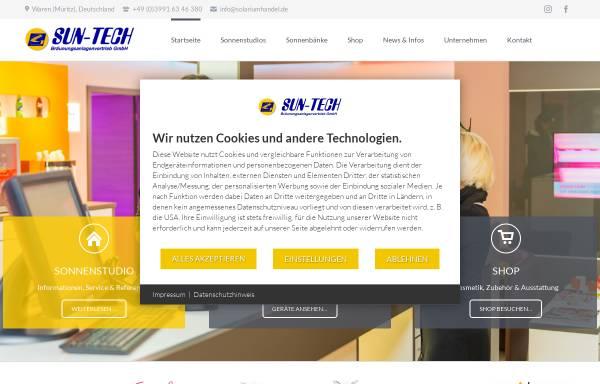 Vorschau von www.solariumhandel.de, SUN-TECH Bräunungsanlagenvertrieb GmbH
