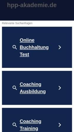 Vorschau der mobilen Webseite www.hpp-akademie.de, Heilpraktikerschule HPP-Akademie
